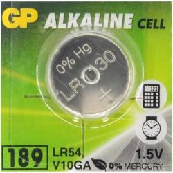 Батарейка ДЖИ-ПИ GP alkaline 189 - LR54 (G10)